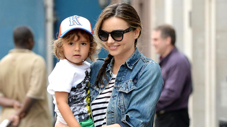 Mandatory Credit: Photo by Broadimage/Shutterstock (3699503d)Miranda Kerr and Flynn BloomMiranda Kerr out and about, New York, America - 14 Apr 2014Miranda Kerr takes her son Flynn to have lunch at Sant Ambroeus restaurant in New York City.