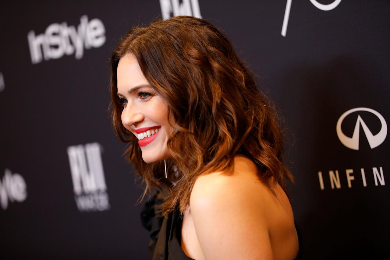 Actor Mandy Moore attends the Hollywood Foreign Press Association (HFPA) and InStyle celebration of the 75th Annual Golden Globe Awards season at Catch LA in West Hollywood, California, U.S. November 15, 2017. REUTERS/Patrick T. Fallon