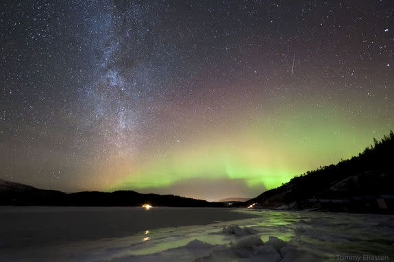 Astrophotographer Tommy Eliassen sent in a photo of a Geminid meteor taken over Hemnes, Nordland, Norway, on Dec. 11, 2012.