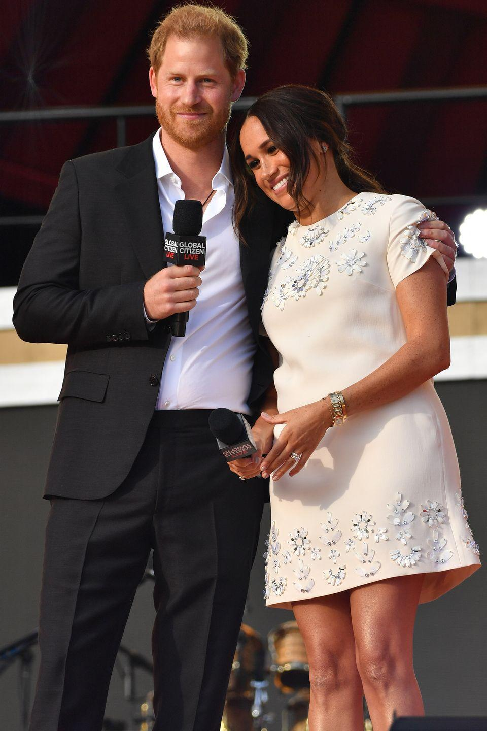 <p>The couple shared a sweet moment on stage.</p>