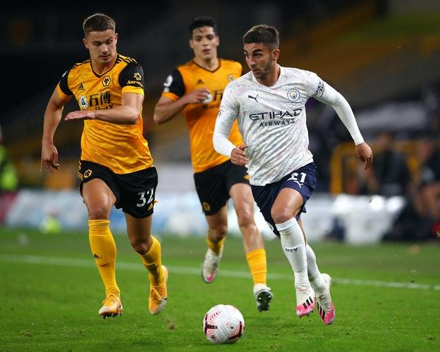 Summr signing Ferran Torres (right) was a late substitute at Molineux