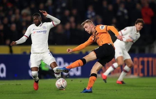 Hull's Jarrod Bowen in action against Chelsea (Mike Egerton/PA)