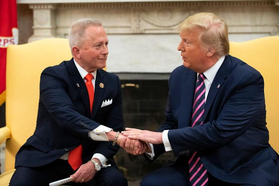 New Jersey Congressman Jeff Van Drew pledged his 'undying support' to Donald Trump last December, changing his party from Democrat to Republican. Now, he's behind in the horse race for his re-election. (Getty Images)