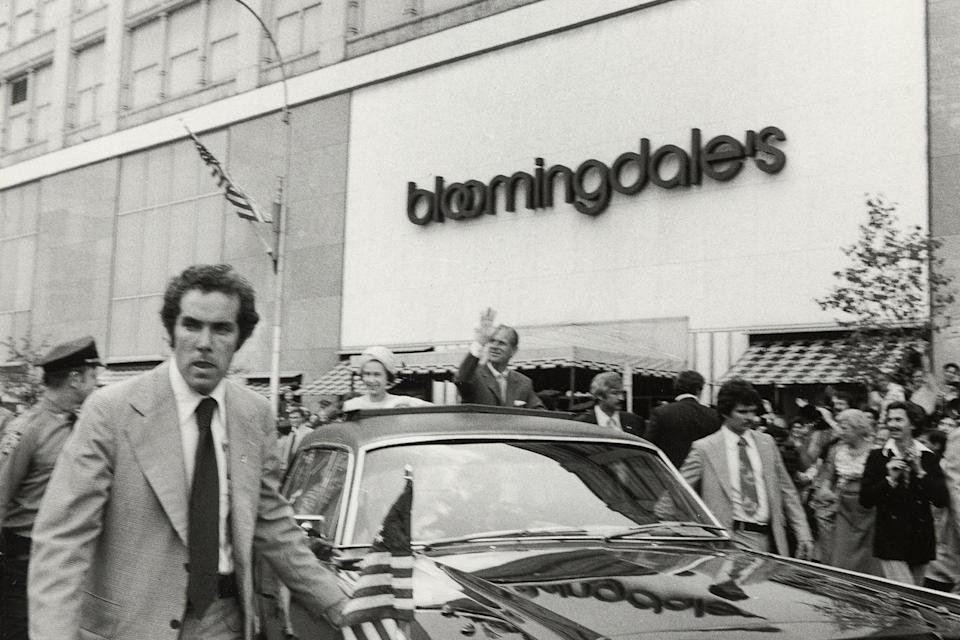 <p>Queen Elizabeth and Prince Phillip attend a parade on July 9, 1976 outside of Bloomingdale's in New York City.</p>
