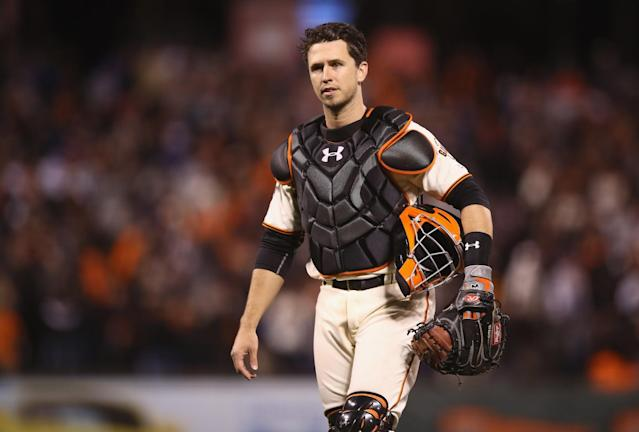 By any definition, Buster Posey is a team leader for the San Francisco Giants. (Getty Images)