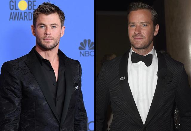 Chris Hemsworth and Armie Hammer buddied up at the 2018 Golden Globes. (Photo: Kevin Winter/Getty Images)