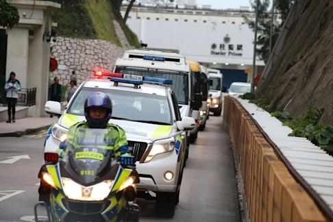 'King of Thieves' Kwai Ping-Hung being escorted from Stanley Prison. Photo: Dickson Lee