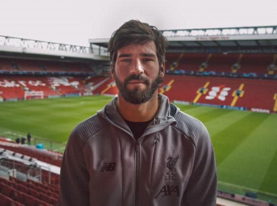 Alisson is in his second season at Liverpool