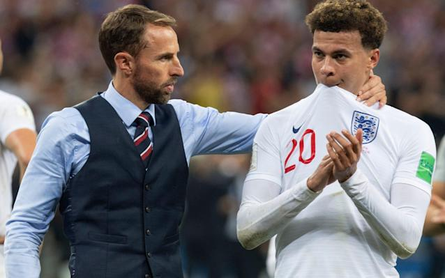 Not to be: Gareth Southgate consoles Dele Alli - JULIAN SIMMONDS