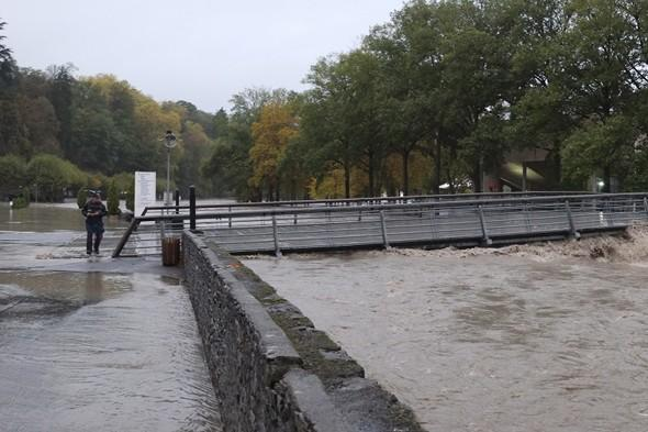 Lourdes is hit by severe floods after days of heavy rain