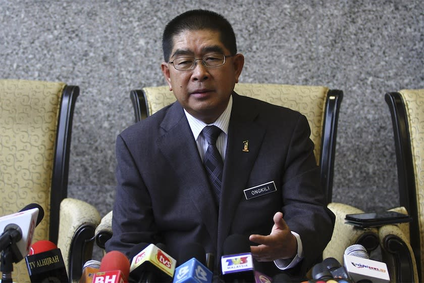 PBS president Datuk Seri Maximus Ongkili said that PBS is in full support of all actions taken by the prime minister to ensure the security and safety of the people, particularly in all matters to combat the deadly covid-19 pandemic.— Picture by Yusof Mat Isa