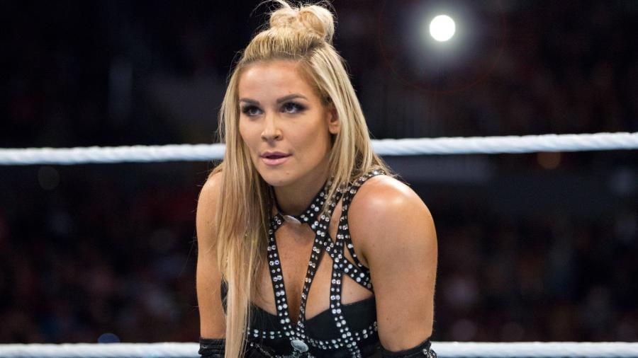 """Natalie """"Natalya"""" Neidhart is seen in a WWE ring. Neidhart will face Ruby Riott in a tables match at the """"TLC"""" pay-per-view event. (Photo Courtesy of WWE)"""