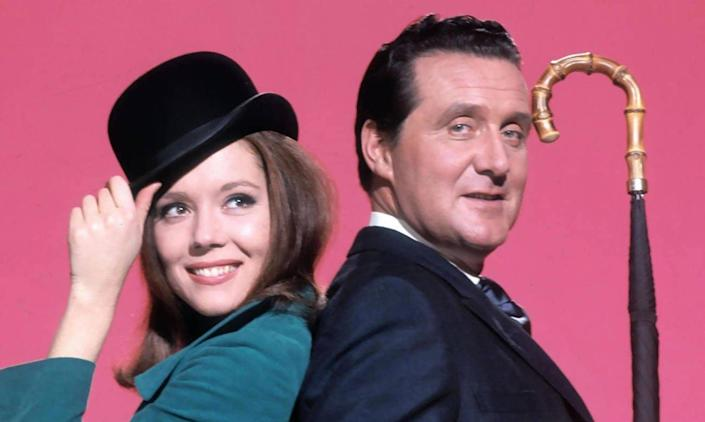 With Patrick Macnee as Steed in The Avengers - Pictorial Press/Alamy