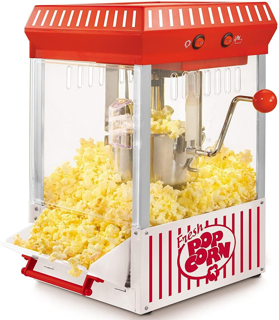 <p>Movie night will be so much better with this <span>Tabletop Kettle Popcorn Maker</span> ($40 and up). </p>