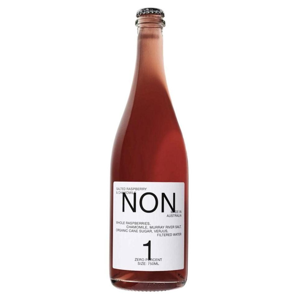 """<p>Imported from Australia, NON has gotten as close in style and taste to a natural wine as possible. With a range of sophisticated flavors inspired by sparkling rosé wine, these sweet, slightly-salty, fruit-forward and lightly carbonated beverages are delicious on their own or paired with food. </p> <p><strong>Buy It!</strong> $29.99, <a href=""""https://drinknolow.com/collections/shop-all-products/products/non-salted-raspberry-chamomile"""" rel=""""nofollow noopener"""" target=""""_blank"""" data-ylk=""""slk:drinknolow.com"""" class=""""link rapid-noclick-resp"""">drinknolow.com</a></p>"""