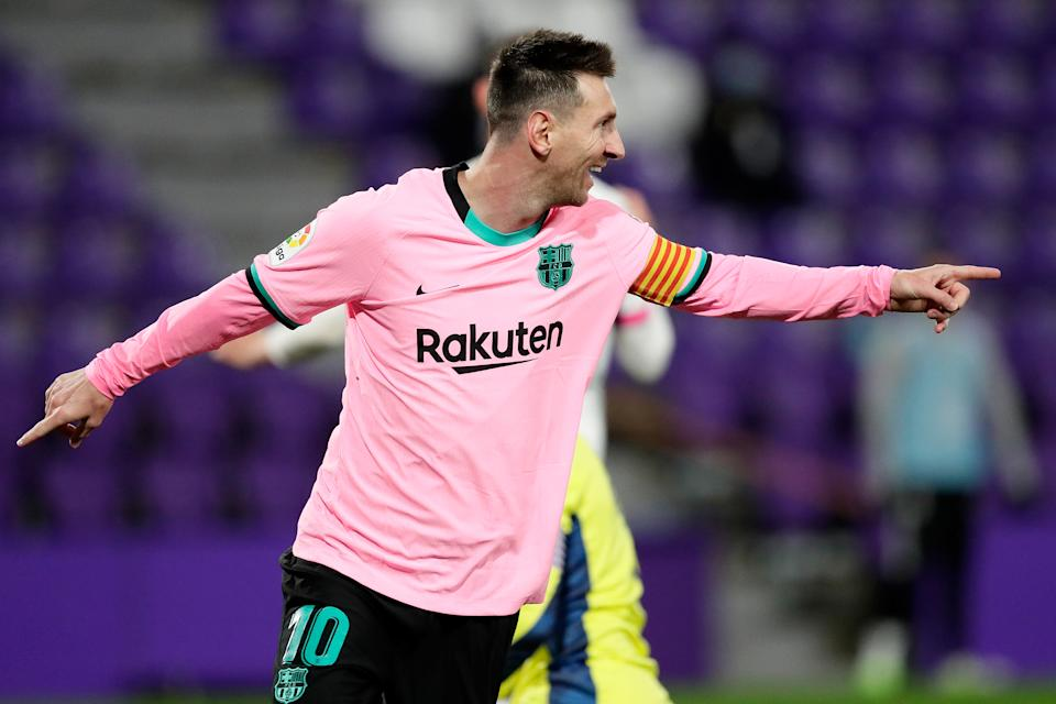 Lionel Messi scored his 644th goal for Barcelona on Tuesday, putting him ahead of Brazilian legend Pelé for the most by one player with a single club team. (David S. Bustamante/Getty Images)