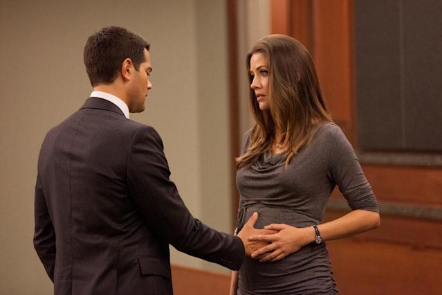 "Jesse Metcalfe and Julie Gonzalo in the ""Dallas"" Season 2 episode, ""Trial and Error."""