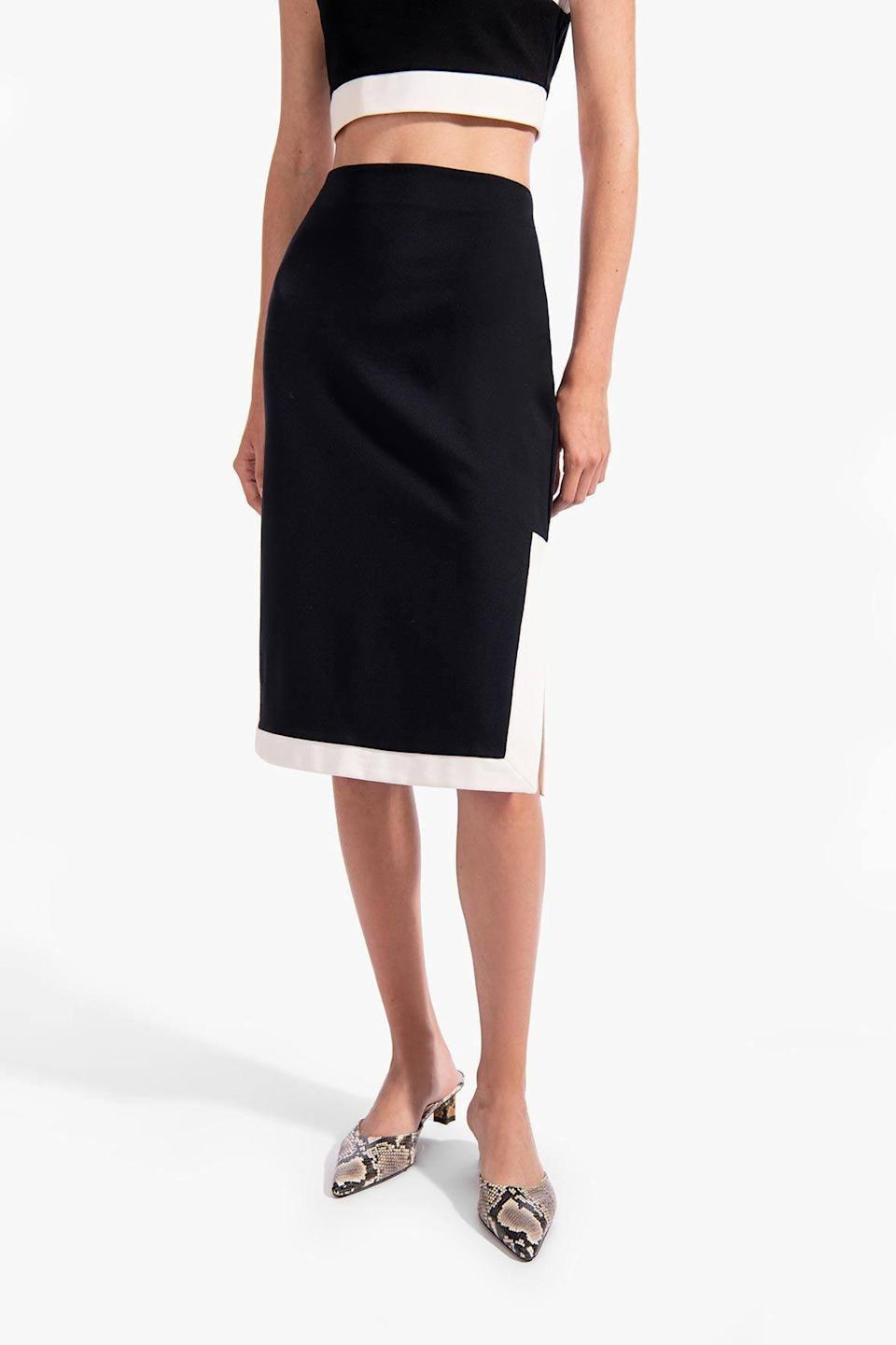 <p>Pair it with the <span>Yang Skirt</span> ($145) for a geometric and fashion-forward silhouette.</p>