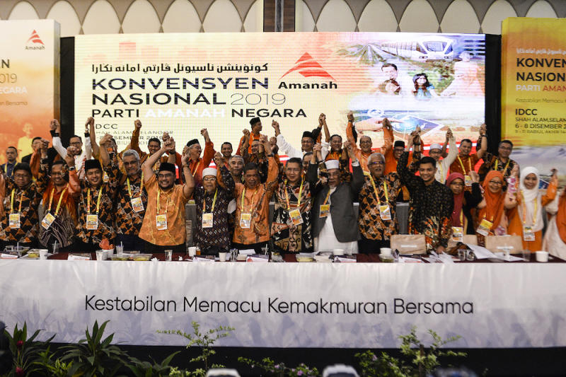 Amanah leaders take a group photo after the Amanah National Convention in Shah Alam December 8, 2019. — Picture by Miera Zulyana