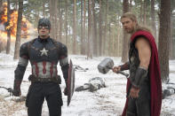 """<p>The <a href=""""https://www.yahoo.com/movies/avengers-age-of-ultron-passes-1-billion-at-the-119037059332.html"""" data-ylk=""""slk:box-office record;outcm:mb_qualified_link;_E:mb_qualified_link;ct:story;"""" class=""""link rapid-noclick-resp yahoo-link"""">box-office record</a> set by<i> Avengers: Age of Ultron </i>(pictured) was quickly surpassed by <i>Jurassic World </i>and <i>Star Wars: The Force Awakens, </i>while <i>Ant-Man</i> had <a href=""""https://www.yahoo.com/movies/box-office-ant-man-trainwreck-124491195057.html"""" data-ylk=""""slk:the second-lowest Marvel opening ever;outcm:mb_qualified_link;_E:mb_qualified_link;ct:story;"""" class=""""link rapid-noclick-resp yahoo-link"""">the second-lowest Marvel opening ever</a>. Doesn't matter: Marvel Studios has now had <a href=""""http://fivethirtyeight.com/datalab/marvels-run-crushes-hollywoods-most-epic-winning-streaks/"""" rel=""""nofollow noopener"""" target=""""_blank"""" data-ylk=""""slk:12 consecutive movies open at No. 1"""" class=""""link rapid-noclick-resp"""">12 consecutive movies open at No. 1</a>, and audience enthusiasm for the witty, CG-enhanced heroes shows no sign of waning. (Photo: Marvel)</p>"""