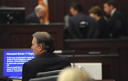 Dunn sits in courtroom at his murder trial in the shooting death of unarmed teen Jordan Davis in Jacksonville
