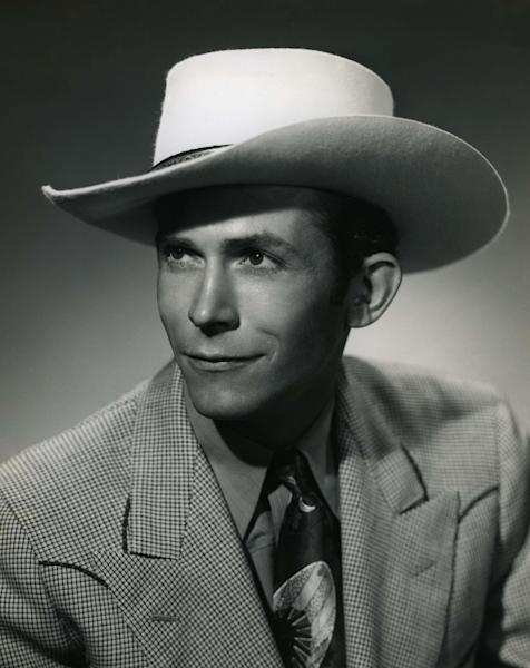 """In this undated photo released by the Country Music Hall of Fame, country music artist Hank Williams is shown. Lyrics from Williams' notebooks will be put to music for the new project """"The Lost Notebooks of Hank Williams.""""  (AP Photo/Country Music Hall of Fame)"""