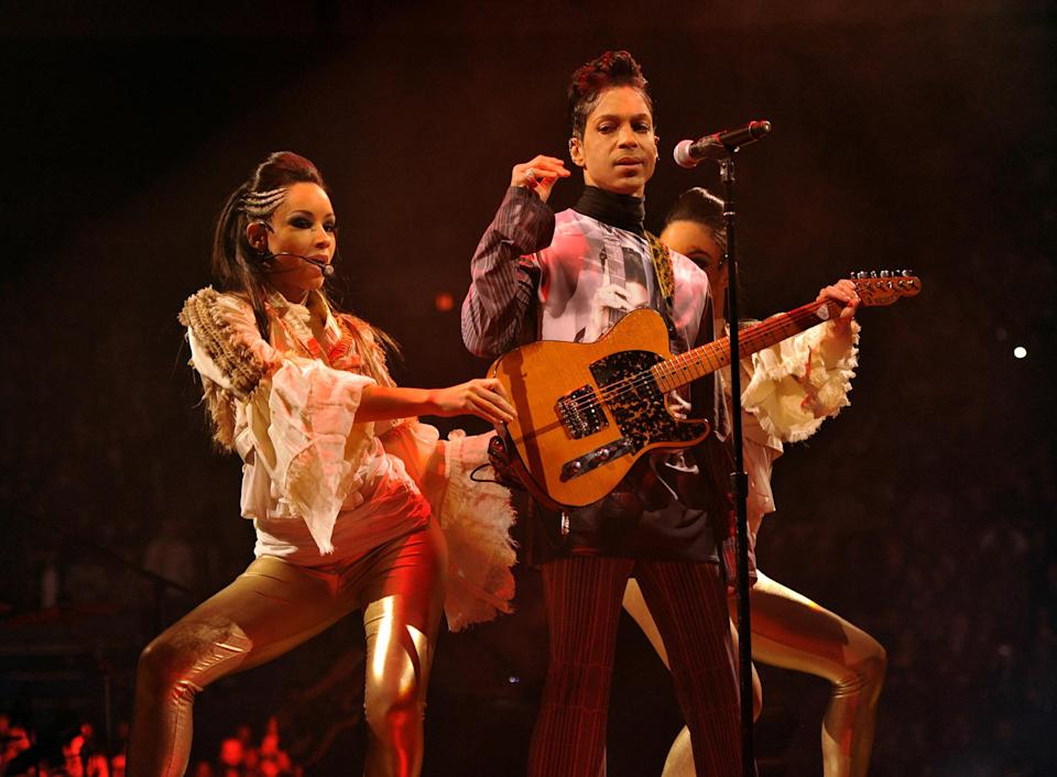 Prince performs during his Welcome 2 America tour. - Credit: Kevin Mazur/WireImage