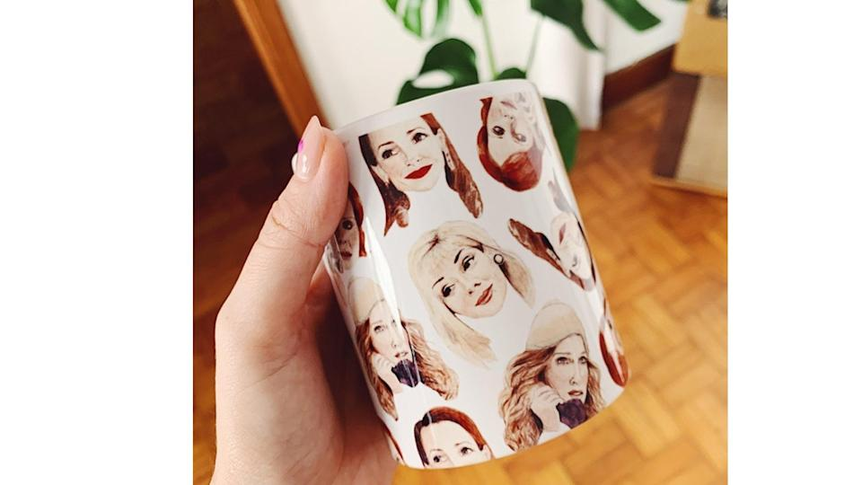 Sex and The City Babes Coffee Mug. (Image via Etsy)