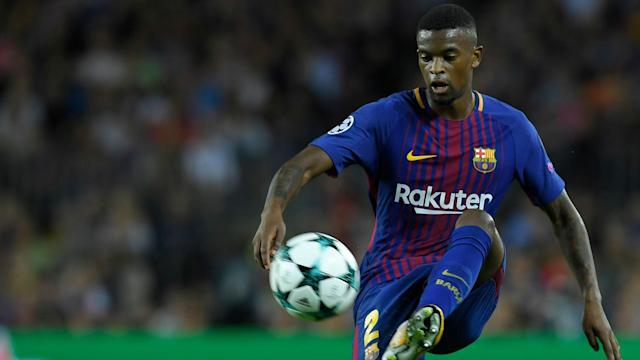 The full-back was forced off in the latter stages of Barca's 6-1 thrashing of Girona on Saturday and will miss at least a month of fixtures