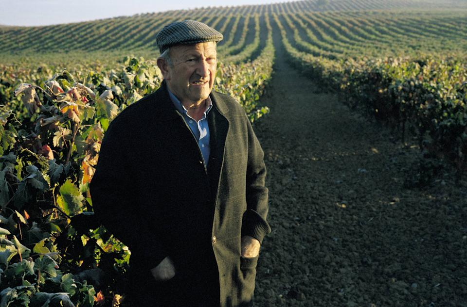 Alejandro Fernandez, grocer Alejandro Fernandez, owner of the cellars ´Pesquera´, next to his vineyards  (Photo by JMN/Cover/Getty Images)