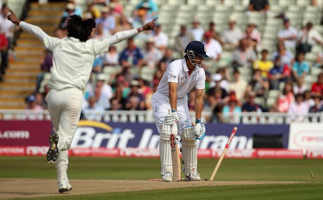 <p>Despite success as stand-in skipper, the summer of 2010 saw increasing scrutiny over Cook's place in the side as he struggled for runs – with a winter tour to Australia on the cards, Cook was by no means a certainty to be selected (Getty Images) </p>