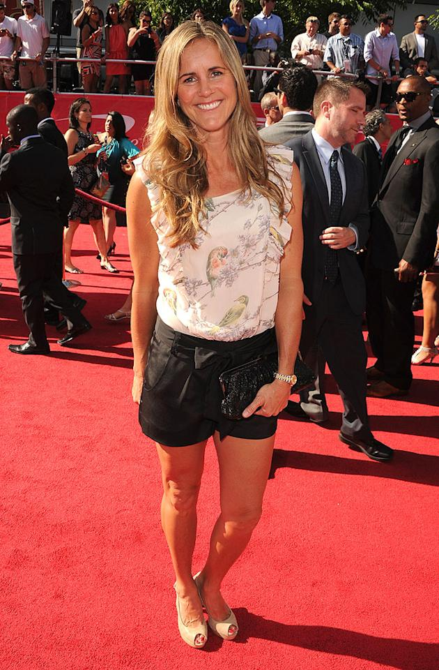 Pro soccer star Brandi Chastain arrives at the 2012 ESPY Awards.