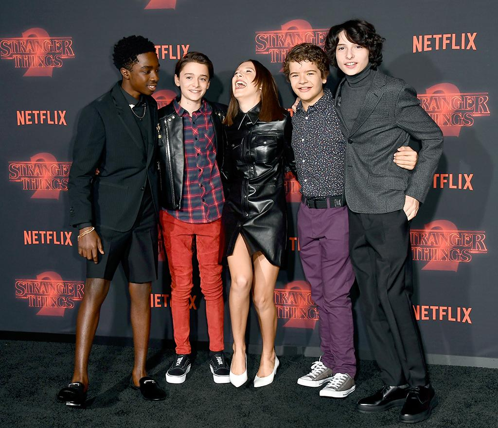 <p>The <em>Stranger Things</em> gang had a blast at the big premiere for Season 2 of their Netflix show at the Regency Bruin Theatre in L.A. on Thursday. Waffles for everyone! (Photo: Frazer Harrison/Getty Images) </p>