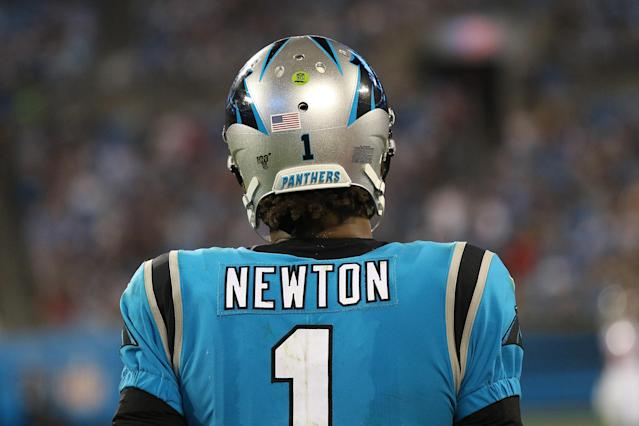 Cam Newton's back. (Photo by John Byrum/Icon Sportswire via Getty Images)