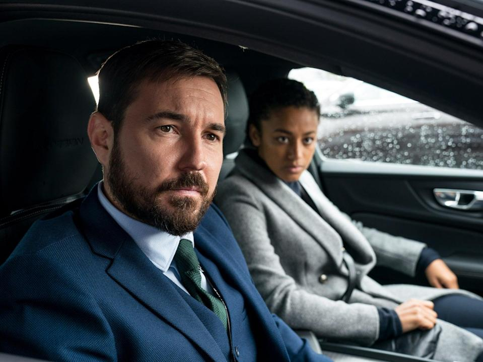 Martin Compston and Shalom Brune-Franklin in Line of Duty (BBC/World Productions/Steffan Hill)