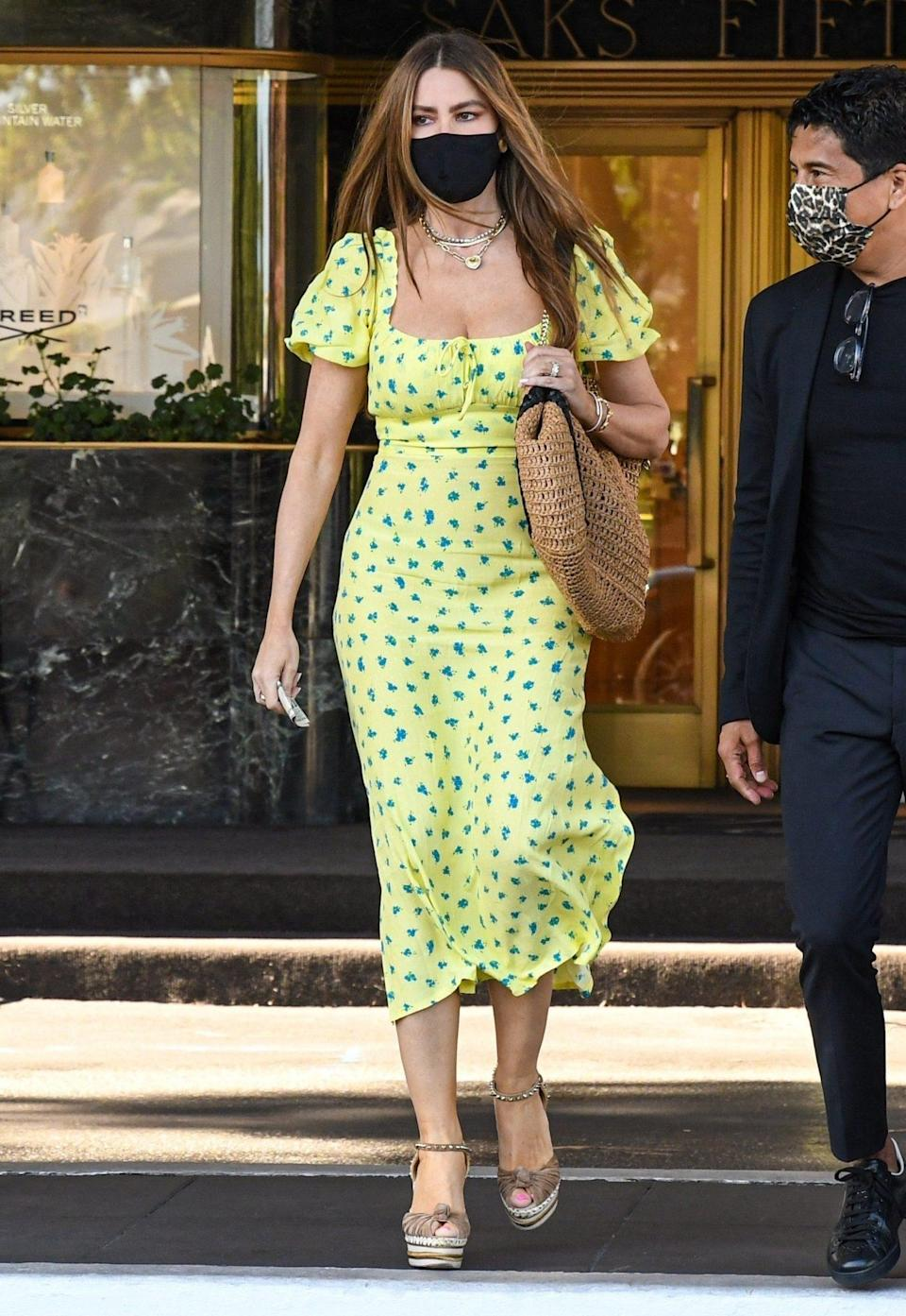 <p>Sofía Vergara goes shopping at Saks Fifth Avenue in Beverly Hills on July 27.</p>
