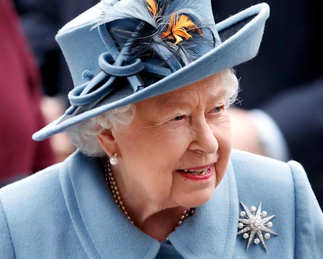 Queen Elizabeth II (pictured on March 9) made a public address about the coronavirus pandemic on Sunday. (Photo: Max Mumby/Indigo/Getty Images)