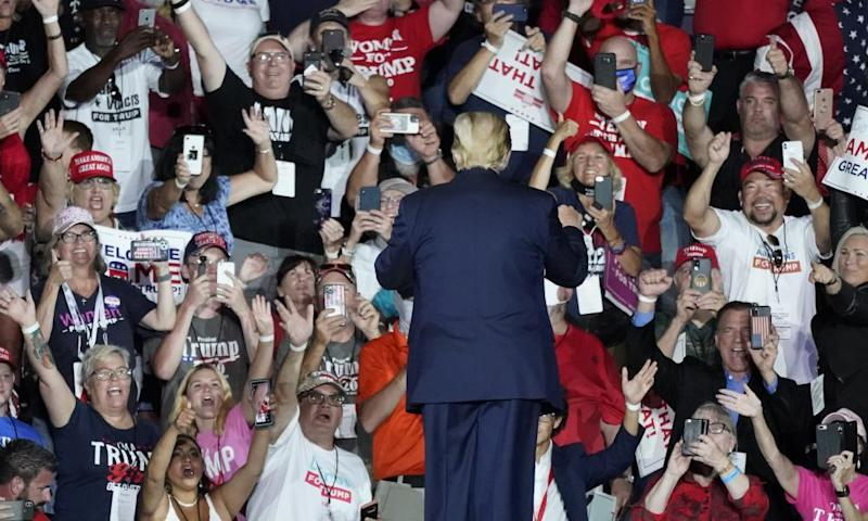 Donald Trump supporters at a rally in Orlando, Florida