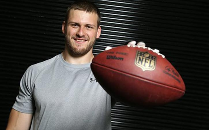 Vikings drafted German wide receiver Moritz Boehringer with the 180th overall pick in the 2016 NFL Draft. Photo courtesy of https://pbs.twimg.com/media/Ce3TgOOXIAEsC_d.jpg