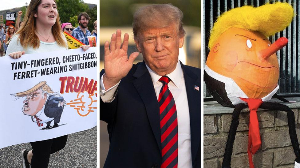 <p>Some of the fabulous reactions Scotland had to Trump's recent visit. Source: Getty </p>