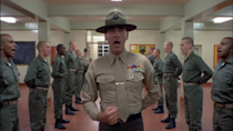 """<p> This dark comedy takes aim at the Vietnam war, told through the eyes of Matthew Modine's Joker, a man who hedges his bets by scrawling 'Born to kill' on his helmet but also wears a peace symbol, to show """"the duality of man"""". Yeah, he's quite a character, and this is a film full of complex, troubled individuals each dealing with the pressures put upon them by their intense drill instructor. R. Lee Ermey's role is one of the most memorable of the whole movie, his torrent of insults designed to toughen up the men, the source of an hour-long improvisational rant. This is war, Kubrick-style. </p>"""