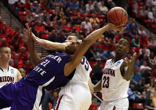 <p>Only 15 games have been decided by less than 10 points, the most recent one in 2014: Arizona's 68-59 win over Weber State.<br>-NCAA.org </p>