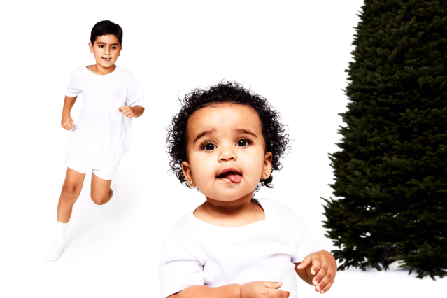 <p>Mason and baby Dream make an appearance in the Day 9 reveal. (Photo: Eli Russell Linnetz/Kim Kardashian via Twitter) </p>