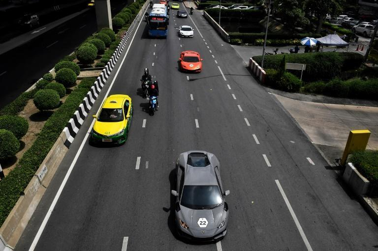 A convoy of Thailand's Lamborghini owners cut through Bangkok last week, putting on display the wealth sloshing around the capital
