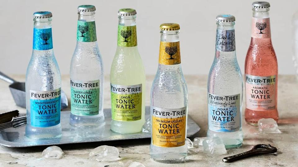 A selection of bottles from Fevertree Drinks