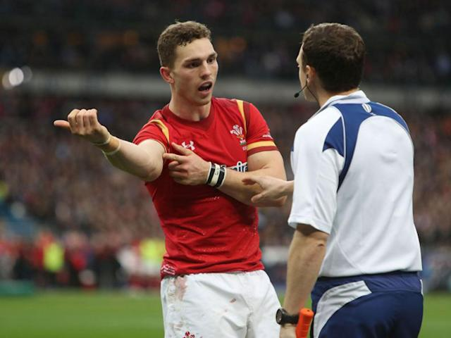 George North complained to Wayne Barnes that he had been bitten by a French player: PA