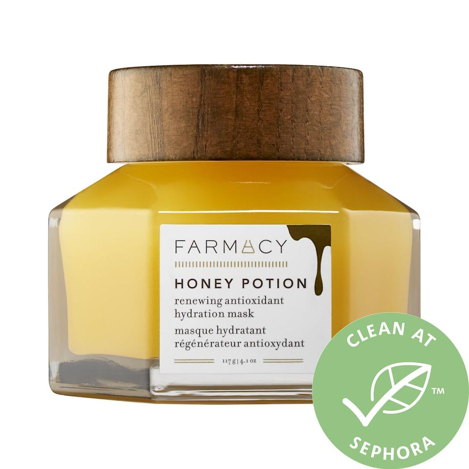 """<p>If you have dry skin, this <a href=""""https://www.popsugar.com/buy/Farmacy-Honey-Potion-Renewing-Antioxidant-Hydration-Mask-366560?p_name=Farmacy%20Honey%20Potion%20Renewing%20Antioxidant%20Hydration%20Mask&retailer=sephora.com&pid=366560&price=56&evar1=bella%3Aus&evar9=46459197&evar98=https%3A%2F%2Fwww.popsugar.com%2Fphoto-gallery%2F46459197%2Fimage%2F46459199%2FFarmacy-Honey-Potion-Renewing-Antioxidant-Hydration-Mask&list1=shopping%2Csephora%2Cface%20mask%2Cbeauty%20shopping%2Cskin%20care&prop13=api&pdata=1"""" rel=""""nofollow"""" data-shoppable-link=""""1"""" target=""""_blank"""" class=""""ga-track"""" data-ga-category=""""Related"""" data-ga-label=""""https://www.sephora.com/product/honey-potion-renewing-antioxidant-hydration-mask-with-echinacea-greenenvy-P410873?icid2=products%20grid:p410873:product"""" data-ga-action=""""In-Line Links"""">Farmacy Honey Potion Renewing Antioxidant Hydration Mask</a> ($56) is ideal. It's thick, goopy, and you'll see results almost instantly.</p>"""