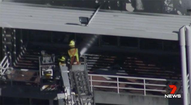 Police are now searching records to determine who lit the fire. Source: 7 News
