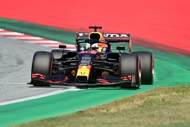 Red Bull's Max Verstappen will start from pole position in Sunday's Styrian GP