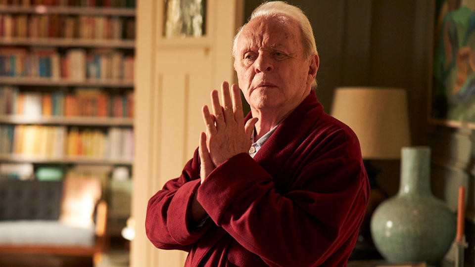 Anthony Hopkins won the Oscar for Best Actor for his performance in 'The Father'. (Credit: Lionsgate)